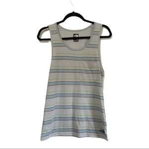 North Face men's flash dry striped tank size small